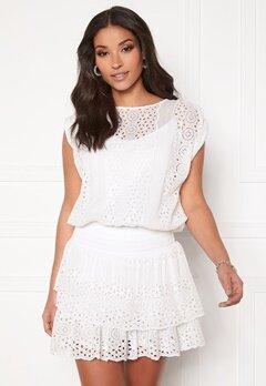 Ravn Bee Dress White Bubbleroom.se