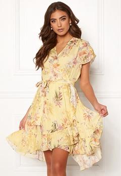 Ravn Belly Dress Yellow Flower Bubbleroom.se