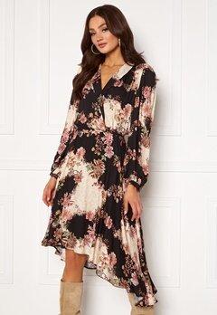 Ravn Regina Dress Flowerprint Black Bubbleroom.se