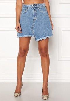 Ivyrevel Raw Edge Denim Skirt Blue Bubbleroom.se