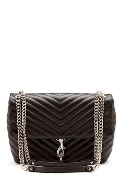 Rebecca Minkoff Edie Flap Shoulder Bag Black Bubbleroom.se