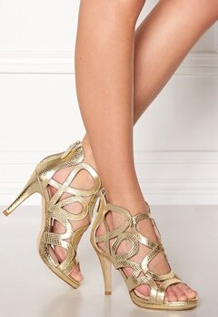SARGOSSA Redefined Gold Leather Heels Gold Bubbleroom.se