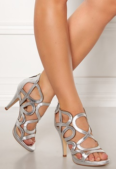 SARGOSSA Redefined Leather Heels Silver Bubbleroom.se