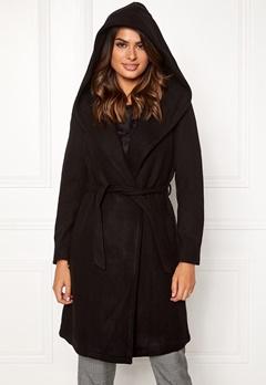 ONLY Riley Wool Wrap Coat Black Bubbleroom.se