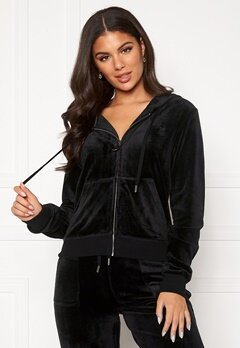 Juicy Couture Robertson Classic Velour Hoodie Black Bubbleroom.se