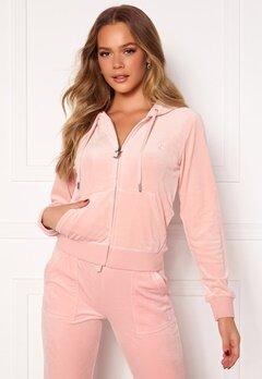 Juicy Couture Robertson Classic Velour Hoodie Pale Pink Bubbleroom.se