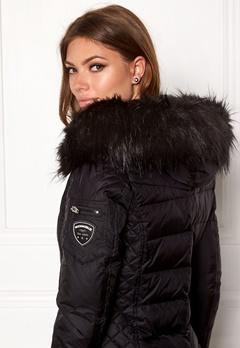 ROCKANDBLUE Faux Fur Trim black Bubbleroom.fi