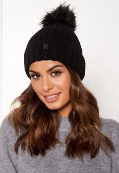 ROCKANDBLUE Hat Pom Pom Beanie Knit Black Bubbleroom.eu