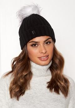ROCKANDBLUE Hat Pom Pom Beanie Knit Black/Bleached Bubbleroom.se