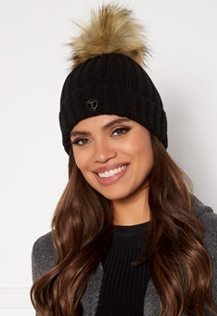 ROCKANDBLUE Pom Pom Hat Black/Natural Bubbleroom.se
