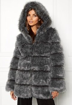 AMO Couture Rubens Faux Fur Coat Silver Fox Bubbleroom.se