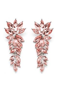 SNÖ of Sweden Rush Pendant Earrings Silver/Light Pink Bubbleroom.se