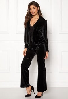 Rut & Circle Adina Velvet Jacket Black Bubbleroom.se