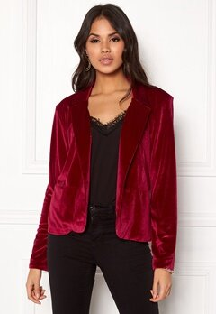 Rut & Circle Adina Velvet Jacket Rococco Red Bubbleroom.se
