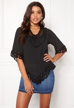 Rut & Circle Adrianna Macromé Top 001 Black Bubbleroom.se