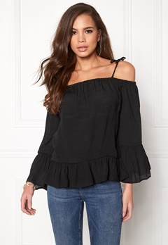 Rut & Circle Adrianna Singoalla Blouse 001 Black Bubbleroom.no