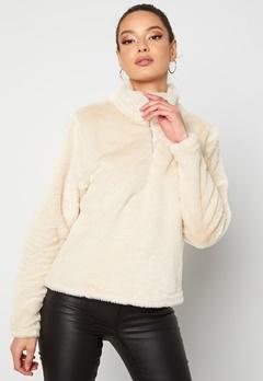 Rut & Circle Alex Fur Sweater Sand Bubbleroom.se