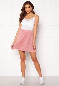 Rut & Circle Ava Suede Skirt Dusty Pink Bubbleroom.se