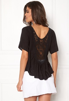 Rut & Circle Bella Lace Back Top Black Bubbleroom.se