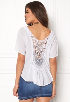 Rut & Circle Bella Lace Back Top White Bubbleroom.se