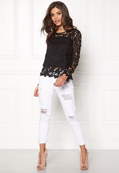 Rut & Circle Benita Lace Top 001 Black Bubbleroom.se