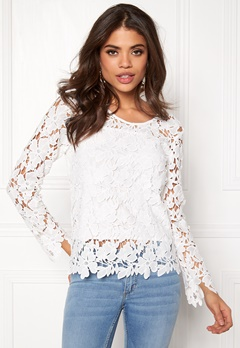 Rut & Circle Benita Lace Top 003 Creme Bubbleroom.se