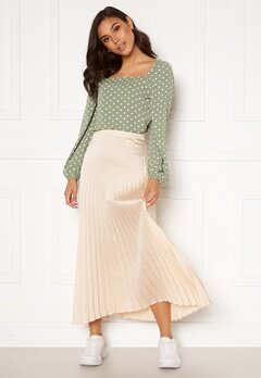 Rut & Circle Bianca Long Skirt Light Beige Bubbleroom.se