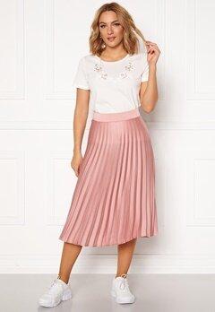 Rut & Circle Bianca Pleated Skirt Dusty Pink Bubbleroom.se