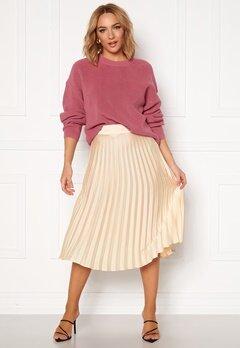 Rut & Circle Bianca Pleated Skirt Light Beige Bubbleroom.se