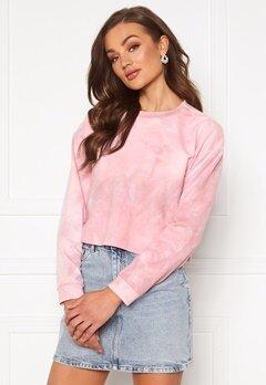 Rut & Circle Celine Short Sweater Pink Tie Dye Bubbleroom.se