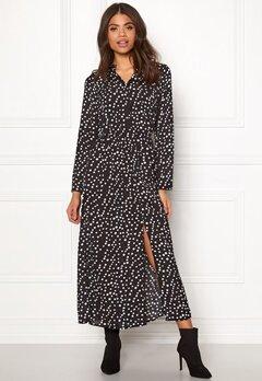 Rut & Circle Dot Long Dress White Dots Bubbleroom.se