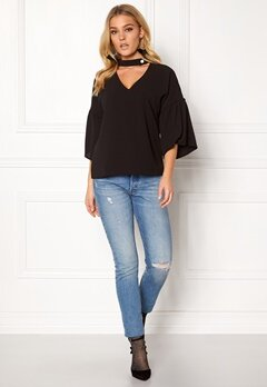 Rut & Circle Elin Blouse Black Bubbleroom.fi