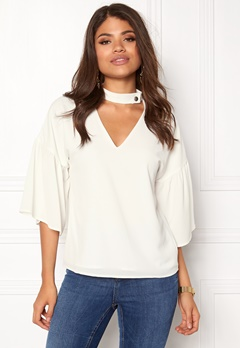 Rut & Circle Elin Blouse Cream Bubbleroom.se