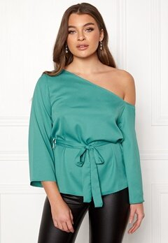 Rut & Circle Elis Off Shoulder Blouse Green Garden Bubbleroom.se