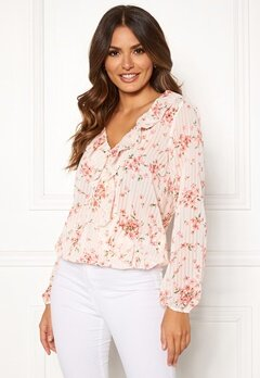 Rut & Circle Flower Frill Blouse White/Pink Bubbleroom.se