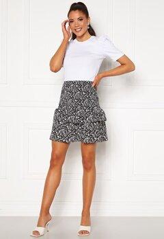 Rut & Circle Hanne Smock Skirt Black/White Flower Bubbleroom.se