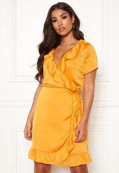 Rut & Circle Ida Wrap Dress Yellow Glow Bubbleroom.se