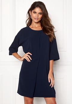 Rut & Circle Isabelle Dress Dk Navy Bubbleroom.se