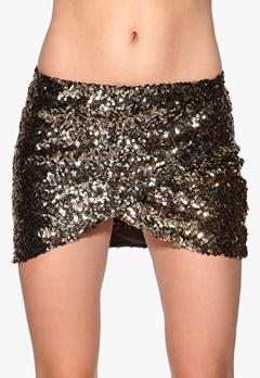 Rut & Circle Jossan Sequine Skirt 051 Black/Gold Bubbleroom.fi