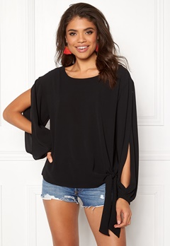 Rut & Circle Julia Open Sleeve Top Black Bubbleroom.se