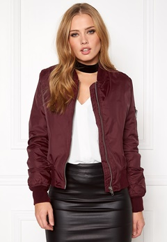 Rut & Circle Kate Bomber Jacket Marsala Bubbleroom.se