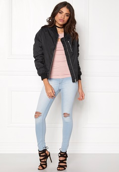 Rut & Circle Kate Front Zip Jacket Black Bubbleroom.se