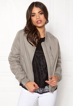 Rut & Circle Kate Front Zip Jacket Lt Grey Bubbleroom.se
