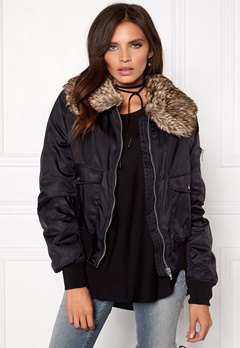 Rut & Circle Kate Fur Collar Jacket 001 Black Bubbleroom.se
