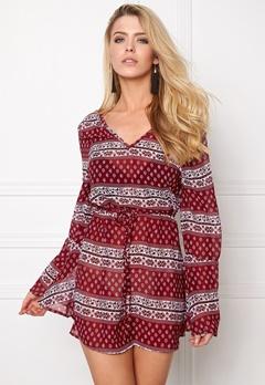 Rut & Circle Keira Dress 804 Red Comb Bubbleroom.se