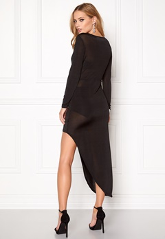 Rut & Circle Kelly wrap dress 001 Black Bubbleroom.se