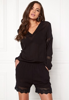 Rut & Circle Layla Playsuit 001 Black Bubbleroom.se