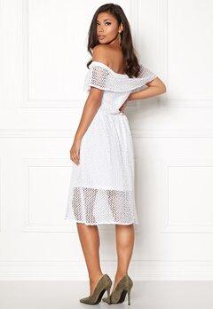 Rut & Circle Li Off Shoulder Dress White Bubbleroom.se