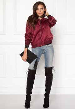 Rut & Circle Linda Bomber Jacket Bordeaux Bubbleroom.no