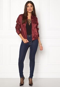 Rut & Circle Linda Bomber Jacket Bordeaux Bubbleroom.se